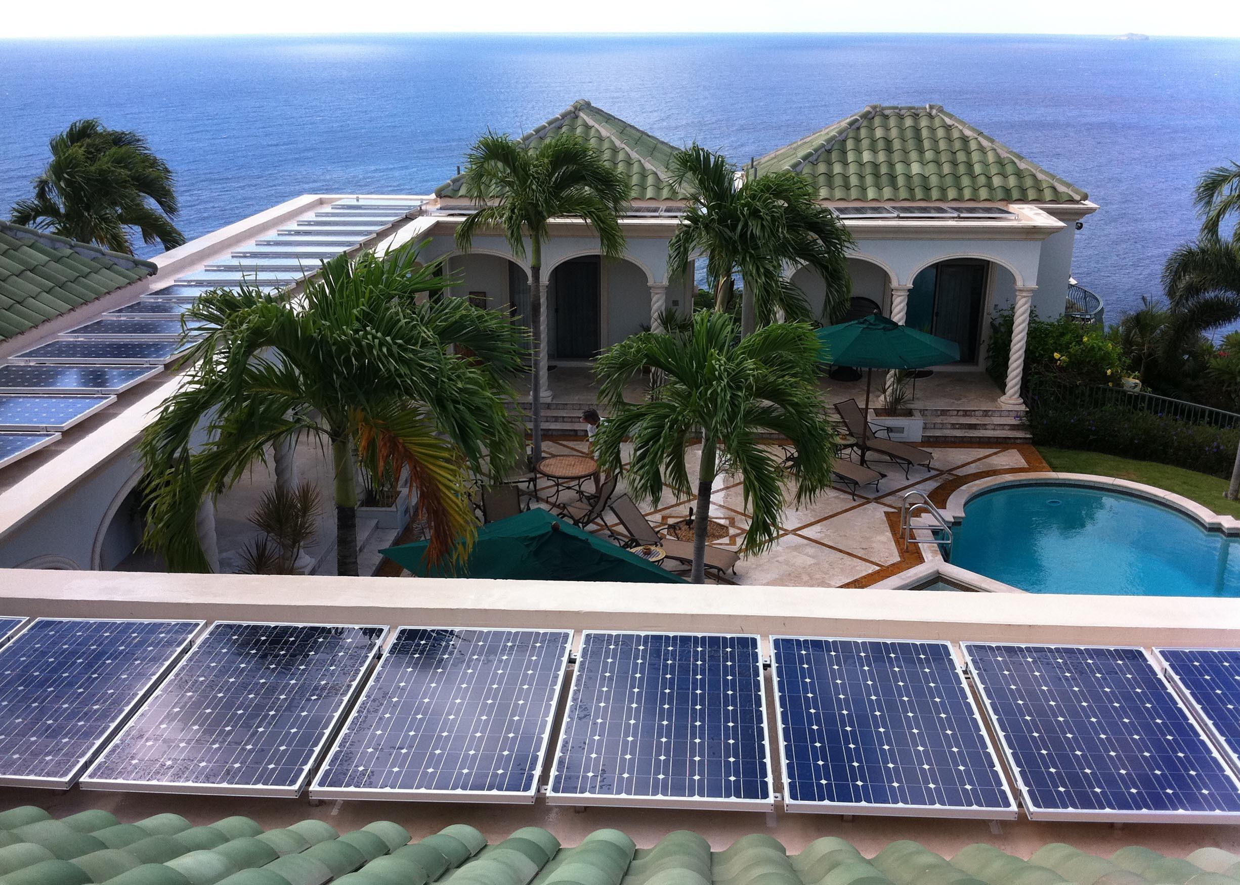 solar array for solar battery bank